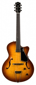 035700 5th Avenue Jazz Sunburst HG Электрогитара арктоп, с чехлом, Godin