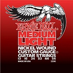 P02206 Nickel Wound Medium Light Комплект струн для электрогитары, никель, 12-54, Ernie Ball